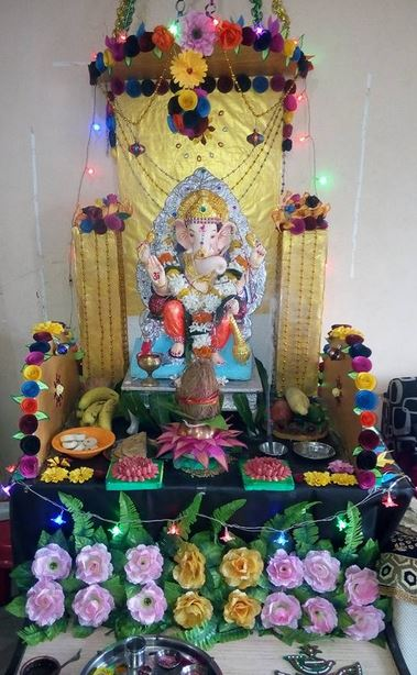 Ganpati Decoration Ideas For Home : Homemade ganpati decoration ideas ganesh chaturthi