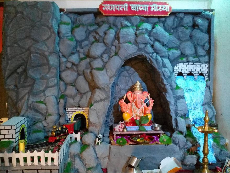 Ganpati Decoration Ideas Ganesh Chaturthi Ganpati Pooja Decoration