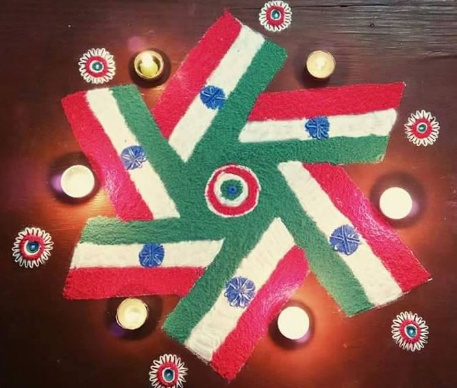 30 Indian Patriotic Rangoli Designs