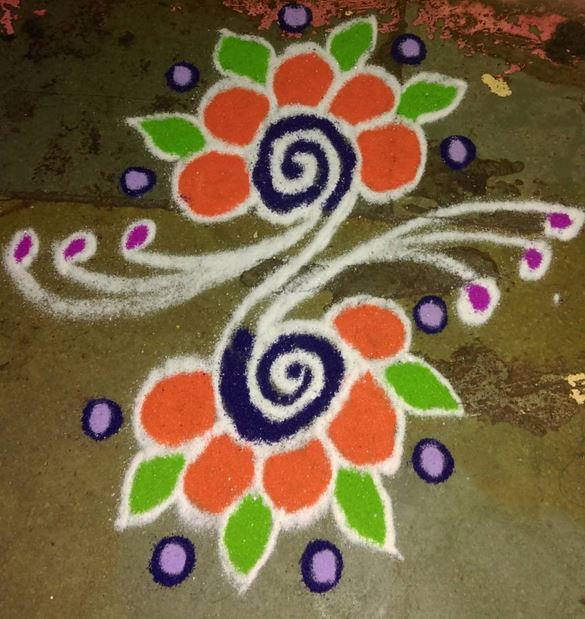 Small Rangoli Design 2016