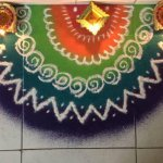 Beautiful Rangoli Photo for Diwali 2018