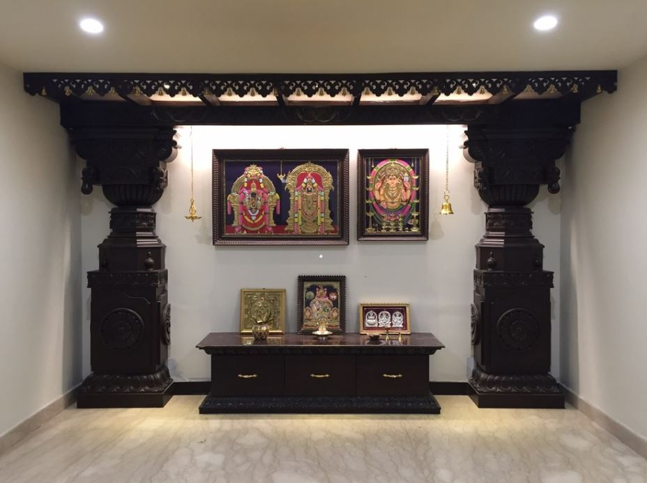 Interior Design for Pooja Room Wall Units Indian Pooja Room Designs